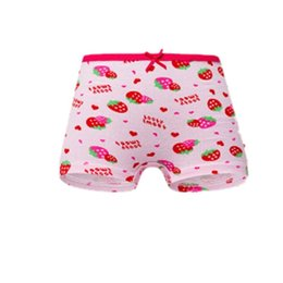 Wholesale cartoon print panties for sale - Group buy Strawberry Printing Boxers Kid Girls Bow Panties Children Cartoon Cloth Underpants Baby Elastic Comfortable Color xh G2