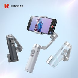 Wholesale EU Stcock Funsnap Capture2S 3-Axis Handheld Gimbal Stabilizer Focus Pull & Zoom for Smartphone Camera Video Record Bluetooth Vlog Live