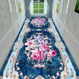 Wholesale European style hotel corridor stair carpet can be cut. The bedroom is fully paved with non slip floor mats in the living room and entrance