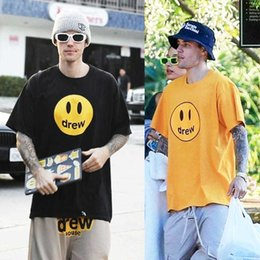 Wholesale justin bieber for sale - Group buy house smile short Drew sleeve drew Justin Bieber Wu Yifan Ouyang Nana couple T shirt