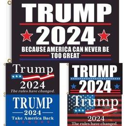 Wholesale Anti Biden Never BIDEN Presidenet Trump 2024 Flags 60*90 CM Funny Garden Banner 2024 Campaign Accesseries MAGA KAG Republican GG31201