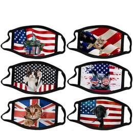 flag mask UK - Flag Kid Adult Mask Us Anti-dust Cotton Face Mouth Independence Day July 4th Woman Men WXFM