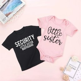 ingrosso fratello-Security Little Sister BodyGuard Bambini Camicia Sample Sister Big Brother Shirt Little Sister Tops Sibling Abbinamenti Abiti TEES Z2