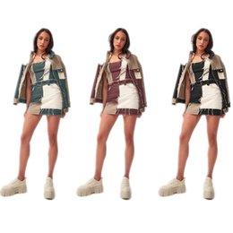 Sexy Summer Skirts Womens Color Block Patchwork Tassels Bodycon Ladies Mini Denim Jean Skirt Size XS-2XL on Sale