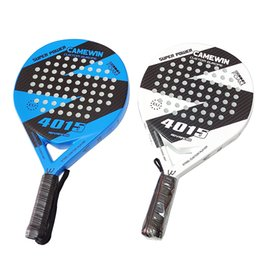 Discount full face carbon fiber Professional Full Carbon beach Tennis Paddle Racket Soft EVA Face Tennises Raqueta With Bag For Adult