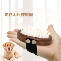 designer dog bags UK - Pet comb wooden dog cleaning beauty products cat hair air bag massage bath brushKO2EKO2E