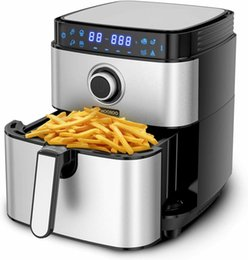 MOOSOO MA13 Air Fryer with 4.7QT, 8-in-1 Electric Air Fryers Oven, 1500W Stainless Steel Airfryer with Digital Screen and 100 Recipes on Sale