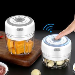Опт Electric Carlic Masher Toinware 100/300 мл мини USB беспроводная электрика быстрая дробленая овощная чили мясорубка для продовольствия