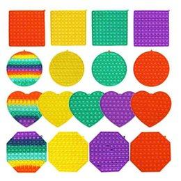 Wholesale life games for sale - Group buy Mega Big Size Rainbow Bubble Board Game Sensory Fidget Push Pop Its Square Heart Round Octagon Popper Puzzle Finger Fun Stress Relief Education Toys H42UJ2D