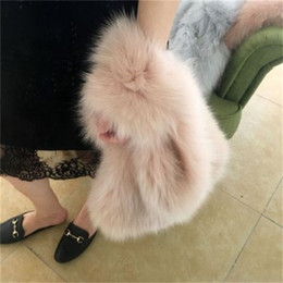 fox fur shoulder bag Australia - fashion new really fox Fur Bag Famous Brand evening Party Bag women Ladies warm Large Capacity Clutch Bags blue pink Tote Bags C0326