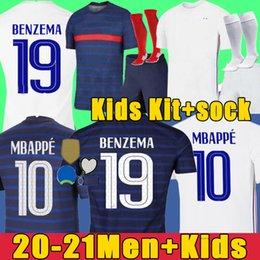 2021 TAYLAND KALİTE BENZEMA futbol formaları 20 21 futbol forması MBAPPE GRIEZMANN POGBA FEKIR PAVARD futbol forması takımı top gömlek erkek çocuklar ERKEK + çocuklar