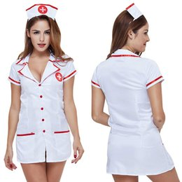 role playing outfit UK - Adult Maid Costume Dress Outfit Role Play Cosplay Uniform Sexy Women Set Nurse Costumes Games Erotic Lingeries