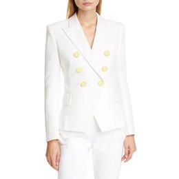 Vente en gros Mode Femmes Vêtements Blazers Haute Qualité Femmes Costumes Coating Designer Dames Veste Veste 4 couleurs Taille S-XL