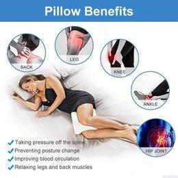 Toptan satış Gebelik Vücut Bellek Köpük Yastık Ortopedik Diz Bacak Kama Ayak Minder Yan Sleeper Siyatik Rölyef veya Yastık Kılıfı