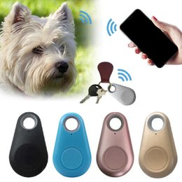 bag mini gps Canada - Collars And Leashes Pets Smart Mini Gps Tracker Anti-loss Bluetooth Tracer for Pet Dog Cat Keys Wallet Bag Kids Trackers Finder Equipment