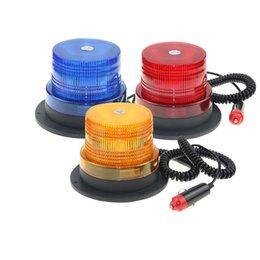 Großhandel CE-Zertifizierung Bernstein-blaue rote Auto-Fahrzeug-Strobe-WARNUNG-Licht blinkendes Beacon-Magnetische montierte LED-Notbeleuchtungslampe 12 / 24V