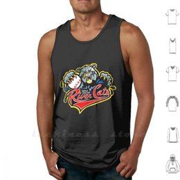 little league baseball großhandel-Flusskatzen Baseball Tank Tops Weste Sleeveless Little Liga Stily Tal Minderjährige Logo Männer
