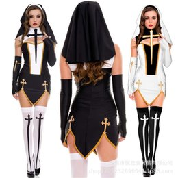 Two Color Cosplay Sexy Nun Game Uniform Seductive Role Play Costume on Sale