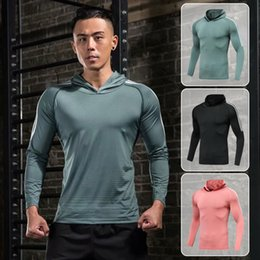 Wholesale cycling jerseys soccer resale online - Mens Running T Shirt Quick Drying Compression Sweatshirt Soccer Jersey Baseball Cycling Sports Clothing Fitness Sportswear