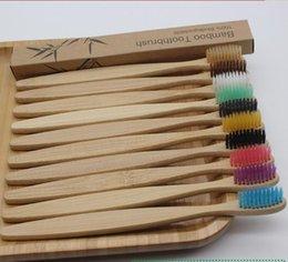 Контрактные красочные натуральные бамбуки зубная щетка набор Softs Breath Create Уголов для зубов отбеливание бамбуковые зубные щетки мягкие зубные уход на Распродаже