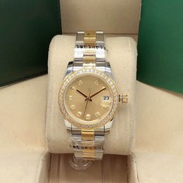 Wholesale Boutique stylish classic sapphire ladies watch, 31MM waterproof casual stainless steel automatic mechanical movement