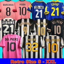 venda por atacado Juventus Retro Jersey 84 85 95 97 98 99 00 02 03 04 05 11 12 15 16 Marchisio Pogba Del Piero Matri Ibrahimovic Zidane