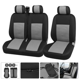 covers for van UK - 2+1 Auto Seat Cover Cushion For Transit Custom Van Truck Lorry Vivaro Transporter Car Covers