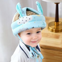 baby helmet hats Australia - Infant Toddler Safety Helmet Cartoon Ears Baby Hat Learn To Walk Anti-collision Protective Soft Comfortable Harnesses Cap Caps & Hats