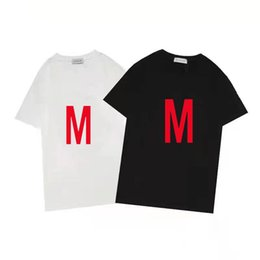 Wholesale buy cotton tops resale online - Designer customized T shirt for men and women random black white cotton wrinkle resistant summer comfortable short sleeve top buy one get two