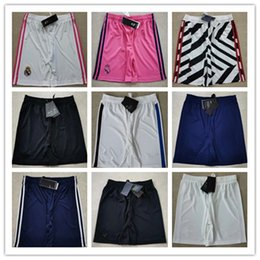 2021 Real Madrid Soccer shorts cortos de futbol 20 21 LUKAKU RASHFORD POGBA MORATA MBAPPE Sport football pants on Sale