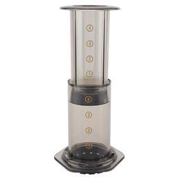 350 ml NUEVO Filtro de cristal Espresso Cafetera Cafetera portátil Café Francés Prensa Cafecoffee Pot para Aeropress Machine 372 V2 en venta