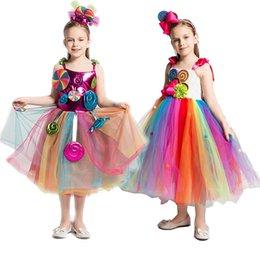 Kid Filles Fleur Applique robe de fête d/'anniversaire Robe Pailleté Lollipop Robe Tutu