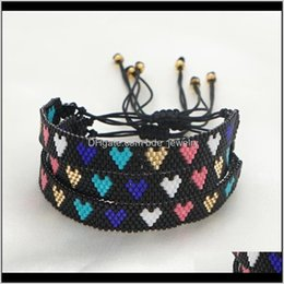 gift deals Australia - Charm Jewelryheart Womens Bracelet Pulsera Friendship Gift Jewelry Miyuki Woven Bracelets Women Wholesale Deals With Drop Delivery 2021 Tvxty