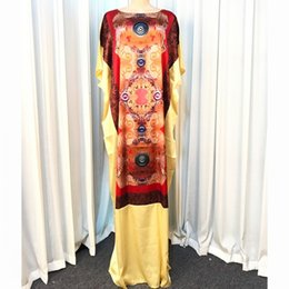 long african traditional dresses UK - dresses Flower Print Long Maxi For Women Dashiki Summer Ladies Traditional African Clothing Fairy Dress