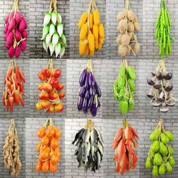 artificial vegetables home decor Australia - Simulation Fruit and Vegetable DIY Festive Supplies Artificial Decor For Restaurant Kitchen Home Wall Hanging Decoration Y0329