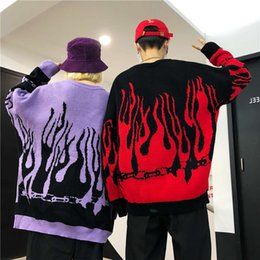 matching couple outfit 2021 - Harajuku Hip Unisex Sweater Newest Runway Couples Vestido Matching Outfits Loose Pullover Man & Women Fashion Tops