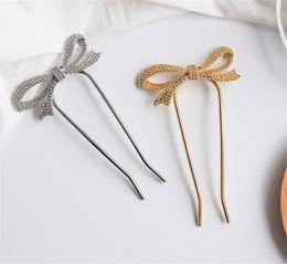 Perle papillon U Forme Simple Hair Grips Clips Cheveux Épingles à Cheveux Alliage cheveux Forks