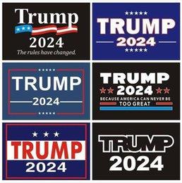 Опт 2024 Трамп наклейки автомобиля 2024 США президентская кампания на президентский козырь Стикер 14.8 * 21 см ПВХ Метки Трамп 2024 Бампер наклейка для автомобиля Decor CPA3285