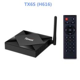 Wholesale TX6S smart TV box Allwinner H616 dual wifi android10.0 Bluetooth 2GB 4GB 8GB 32GB 64GB set-top