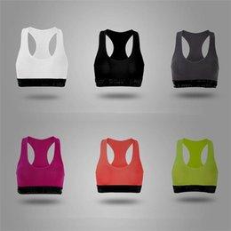 Pink Color Women Sports Bras Sexy Push Up Tank Vest Sports Bralette Designer Underwear Yoga Fitness Vest Shockproof Bras Brand Tops H38NI7M on Sale