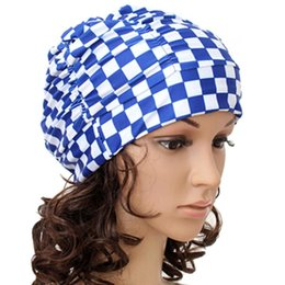 Wholesale girl sexy hat resale online - Anyfashion Sexy Swimming Cap Women Girls Long Hair Swim Stretch Hat Drape Bathing Caps