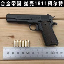 Alloy Empire colt 1911A1 real 1:2.05 shell throwing pistol model cannot be fired on Sale