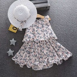 2.year baby girl dresses Canada - Kids Clothes1-year-old skirt Little princess girl baby clothes 2 Girls 3 foreign style Summer Dress 4