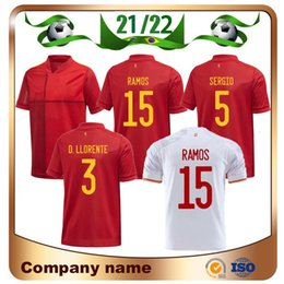Discount isco jersey 2021 European Home Red Soccer Jersey 20 21 Away PACO ALCACER A.INIESTA SERGIO Shirt RAMOS ASENSIO ISCO SAUL Football Uniform