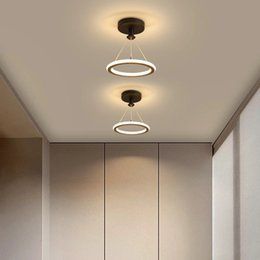 small bedroom ceiling light 2021 - Led Chandelier Lamps In The Hallway Small Light for Aisle Corridor Entrance Balcony Cloakroom Kitchen Fixture Home Modern Ceiling Lamp R259