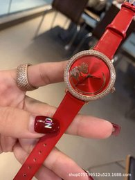 mouse fashion Australia - red watch fashion full mouse Tiktok drill strap lady quartz waterproof