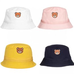 Wholesale Kids Bear Hat Baby Cute Hats Thin Girl Fisherman Boys Sunhat Four-color Spring Summer Boy Sunscreen Caps Children Leisure