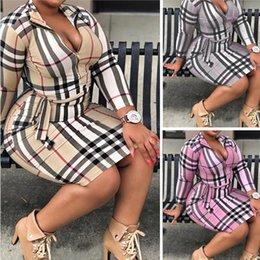 Casual Dresses Plus Size Women's Plaid Fashion Classic Clothing Big Sizes Dress Slim Plaids Skirt Women Trendy Skirts L-5XL