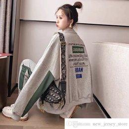 Propre personnalisé Sportswear costume femme homme printemps et automne style coréen étudiant lâche amincissant et à la mode style occidental plus en Solde