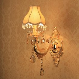 Wholesale Wall Lamp Home Led Mirror Light Modern Candle Lights With Shade Hallway Gold Fish Fixtures Sconce Walkway